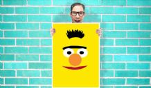 Bert sesame street Art - Wall Art Print / Poster   - Kids Children Bedroom Geekery